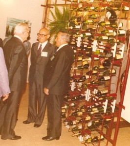 Na Festa da Uva de 1975, com o presidente Ernesto Geisel e o diretor da Cia. Luiz Mandelli.