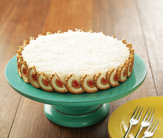 Torta Manjar com Tortinhas Cheesecake